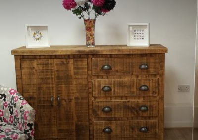 Rough Sawn Cupboard and Drawers